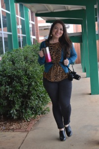 Walking around EA with a smile on my face, caught by a photography student